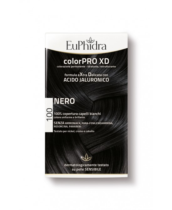 EuPhidra Colorpro XD Tintura Extra Delicata Colore 100 Nero - Farmaciaempatica.it