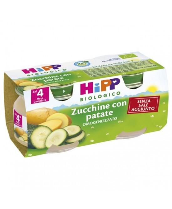 Hipp Biologico Omogeneizzato Zucchine Con Patate 2x80g - Farmafamily.it