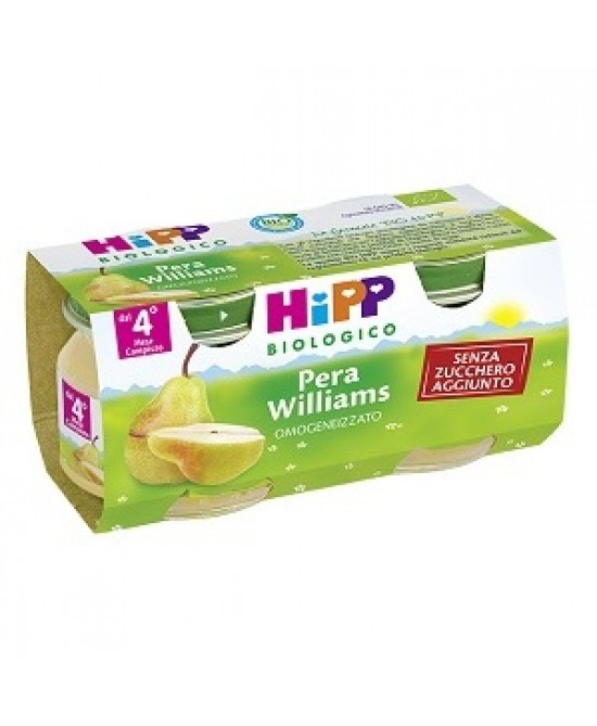 HiPP Biologico Omogeneizzato Pera Williams 2x80g - Farmawing