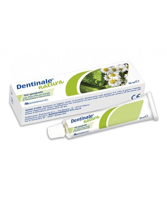 Montefarmaco OTC Dentinale Natura Gel Gengivale Dispositivo Medico 20ml - Zfarmacia