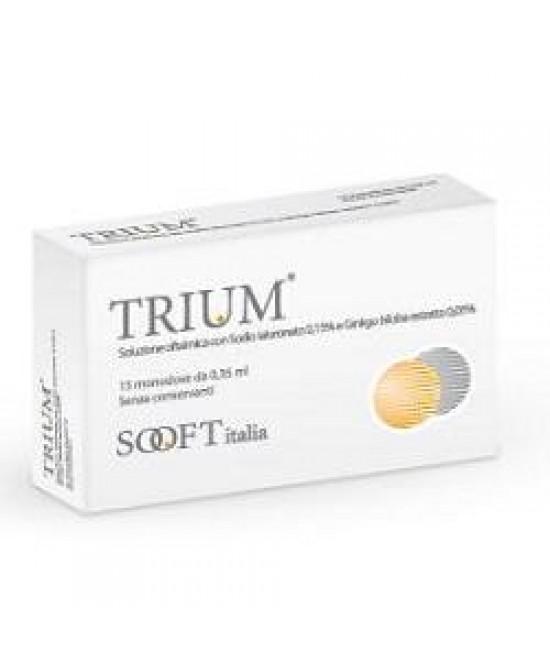 Trium Collirio Monodose 15 Flaconi - Farmacia 33