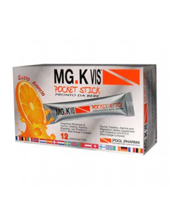 Mg.K Vis Pocket Stick Arancia Integratore Energetico 12 Bustine