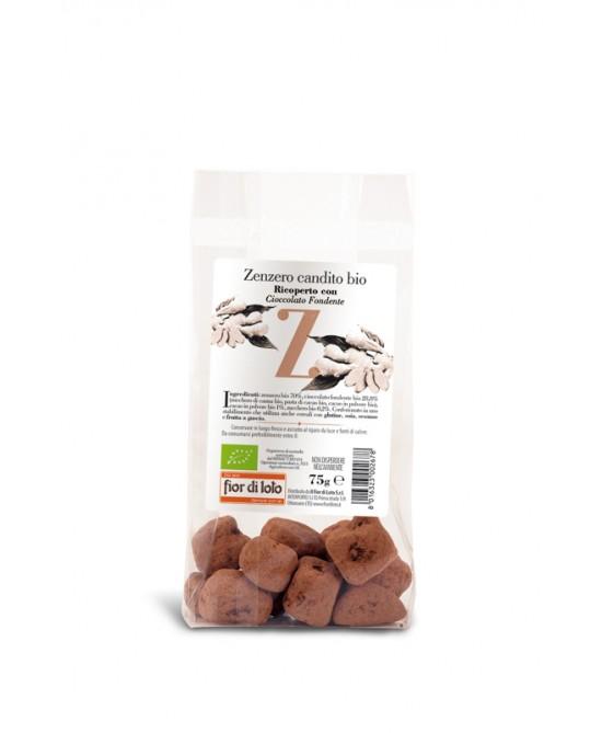 Il Fior Di Loto Zenzero Candito Ricoperto Di Cioccolato Fondente Biologico 75g prezzi bassi