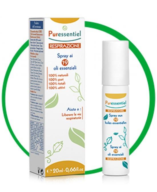 Puressentiel Respirazione Spray 20ml - Iltuobenessereonline.it