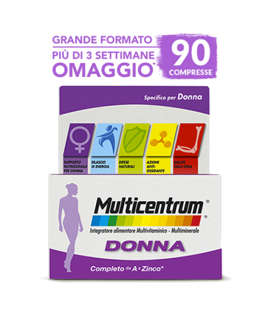 Multicentrum Donna Integratore Alimentare 90 Compresse - Farmacistaclick