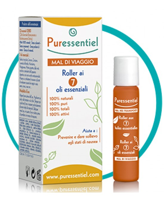 PURESSENTIEL ROLLER MAL DI VIAGGIO 7 OLI ESSENZIALE 5 ML - Farmaciaempatica.it