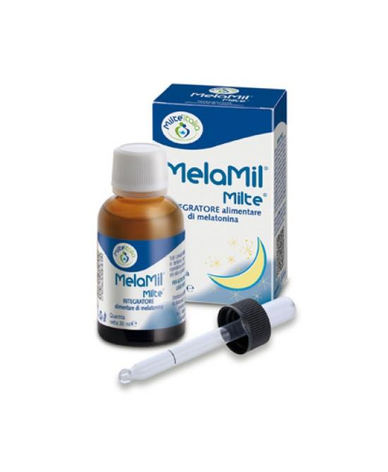 Milte Italia MelaMil Milte Integratore Alimentare Di Melatonina 30ml - Zfarmacia