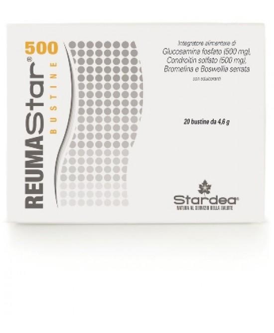 Stardea Reumastar 500 Integratore Funzionalità Articolare 20 Bustine