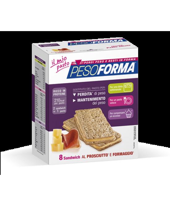 Pesoforma Sandwich Al Prosciutto E Formaggio 8 Pezzi - FARMAPRIME