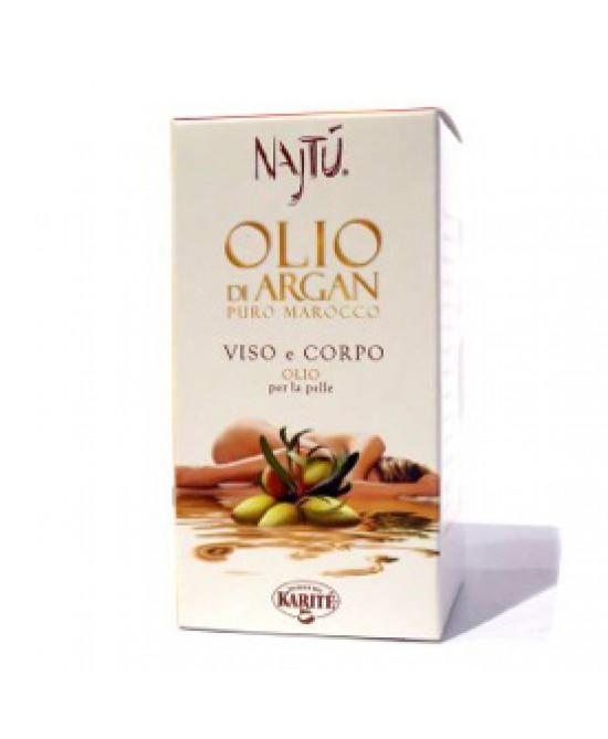 Najtù Olio Di Argan Puro Marocco Viso Corpo Capelli 30 ml