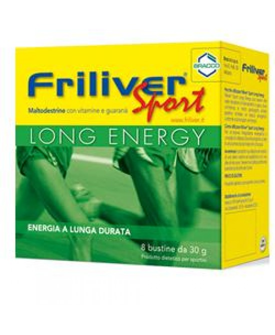 Friliver Sport Long Energy 8 Bustine Da 30g - Speedyfarma.it
