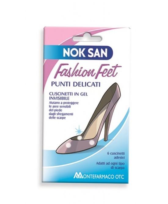 Nok San Fashion Feet Cuscinetti Per Punti Delicati 6 Cuscinetti Adesivi - Zfarmacia