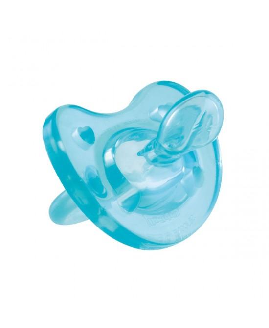 Chicco Gommotto Physio Soft  In Silicone Azzurro 0-6Mesi - farma-store.it