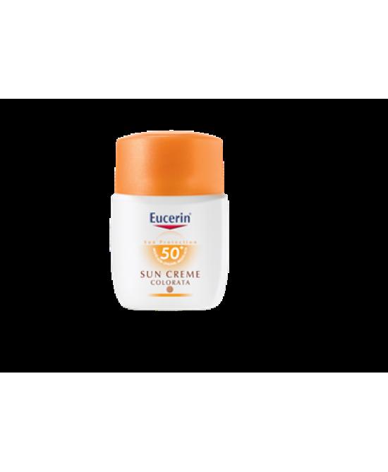 Eucerin Sun CC Crema Solare Colorata Dorata FP 50+ Protezione Viso 50 ml