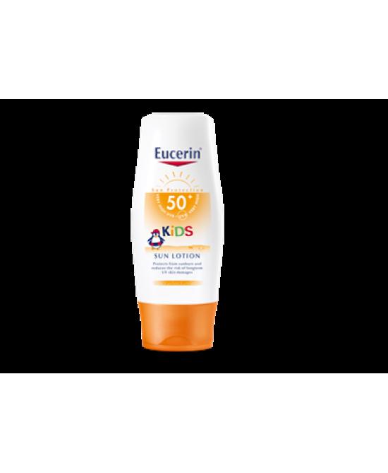 Eucerin Kids Sun Lotion SPF50+ Protezione Solare Bambini  200ml - Parafarmacia la Fattoria della Salute S.n.c. di Delfini Dott.ssa Giulia e Marra Dott.ssa Michela