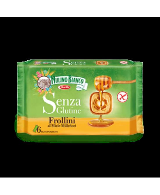Mulino Bianco Biscotti Frollini Al Miele Millefiori Senza Glutine 6 Monoporzioni Da 8 Frollini 250g - FARMAEMPORIO