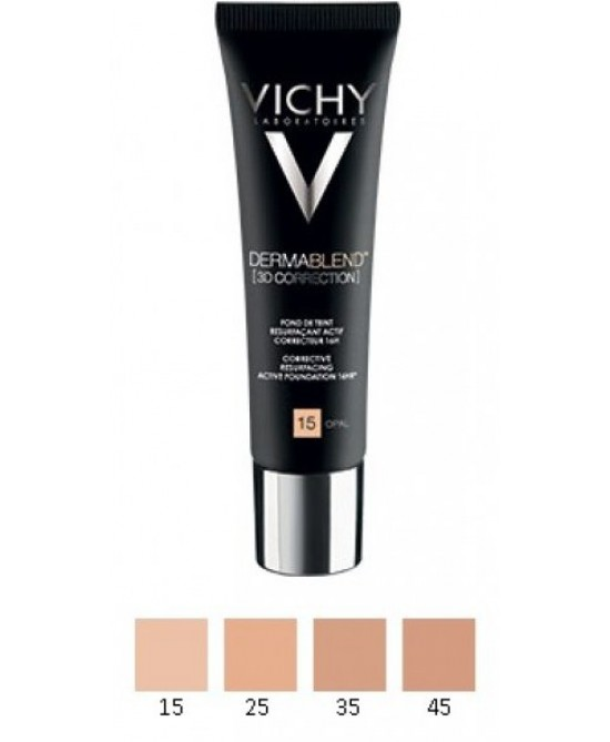 Vichy Dermablend 3D Correction Fondotinta Correttore 16H Levigante Attivo Tinta 35 Sand 30ml - Farmaunclick.it