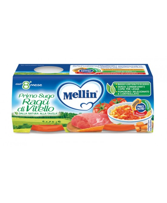 Mellin Primi Sughi Ragù Di Vitello 2x80g - Farmapage.it