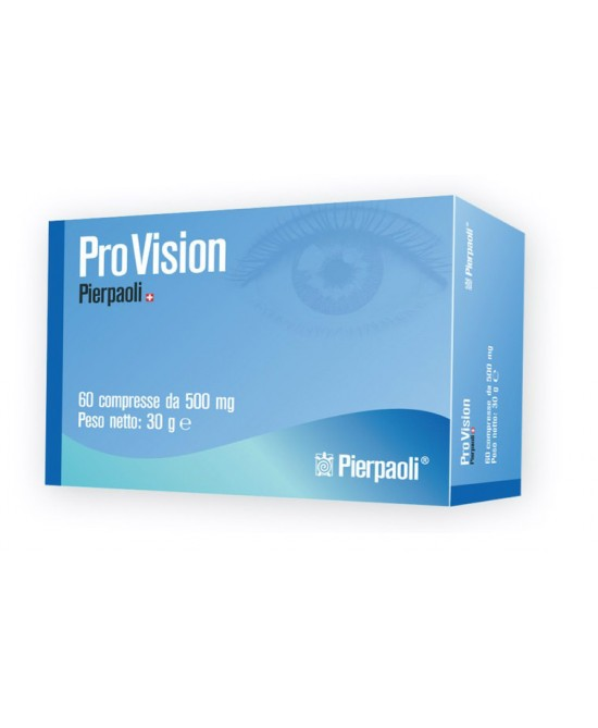 Pierpaoli Pro Vision Integratore Alimentare 60 Compresse - Zfarmacia