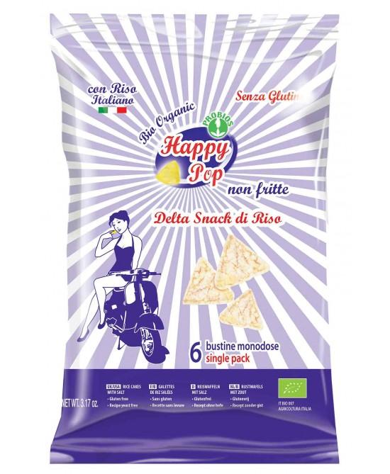 Happy Pop Delta Snack Di Riso Senza Glutine 90g