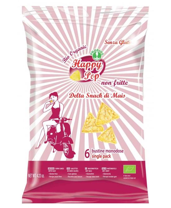 Happy Pop Delta Snack Di Mais Senza Glutine 120g