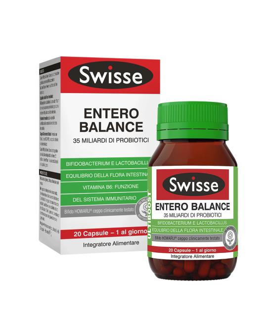 Swisse Entero Balance 36 Miliardi Di Probiotici  Integratore Alimentare 20 Compresse