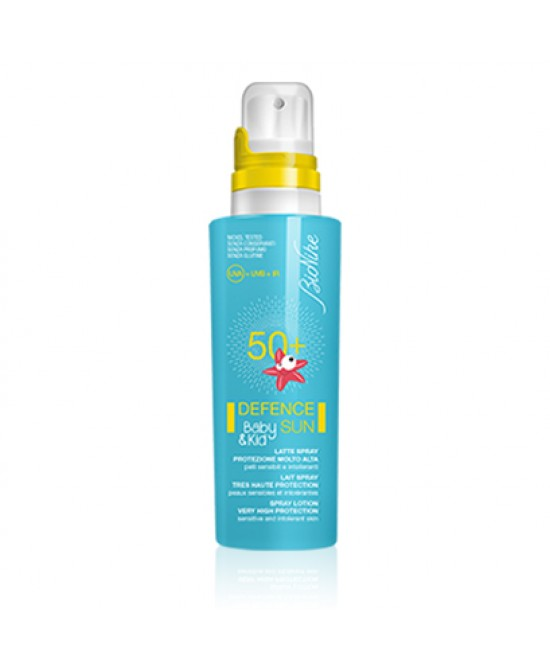 BioNike Defence Sun SPF 50+ Baby&Kid Latte Fluido Protezione Molto Alta 125ml - Farmafamily.it