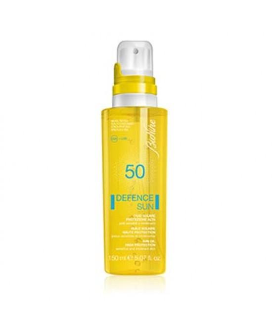 Defence Sun Olio Solare SPF 50 Protezione Molto Alta 150 ml - Farmalilla
