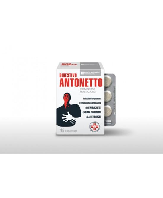 Digestivo Antonetto Acidità E Reflusso 45 Compresse Masticabili - Farmapage.it