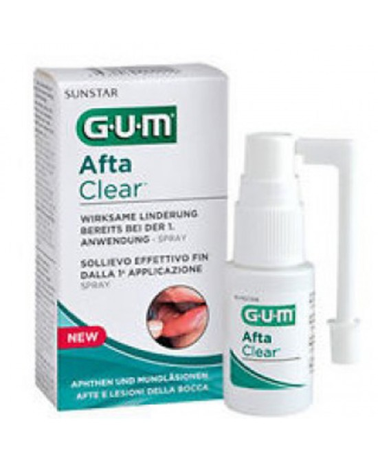 Sunstar Gum Aftaclear Spray Trattamento Afte E Lesioni Della Bocca Flacone 15ml - Farmafamily.it