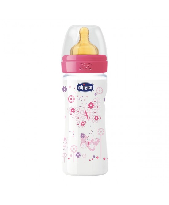 Chicco Biberon Benessere Polipilene E Caucciù Girl 250ml  +2Mesi - Farmafamily.it