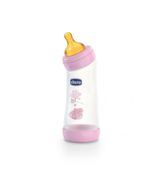 Chicco Biberon Benessere Angolato Polipropilene E Caucciù Girl  250ml  +0Mesi - Farmafamily.it