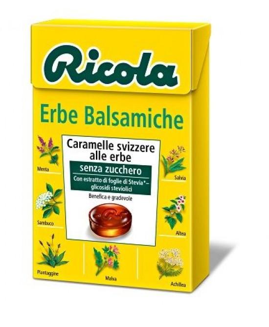 Ricola Erbe Balsamiche Caramelle Senza Zucchero 50g - Farmacia Giotti