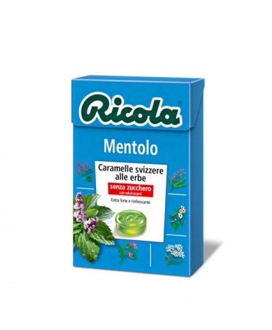 Ricola Mentolo Caramelle Svizzere Alle Erbe Senza Zucchero 50g - Farmia.it