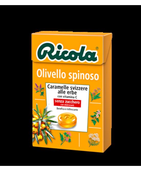 Ricola Olivello Spinoso Caramelle Svizzere Alle Erbe Con Vitamina C Senza Zucchero 50g - Farmia.it