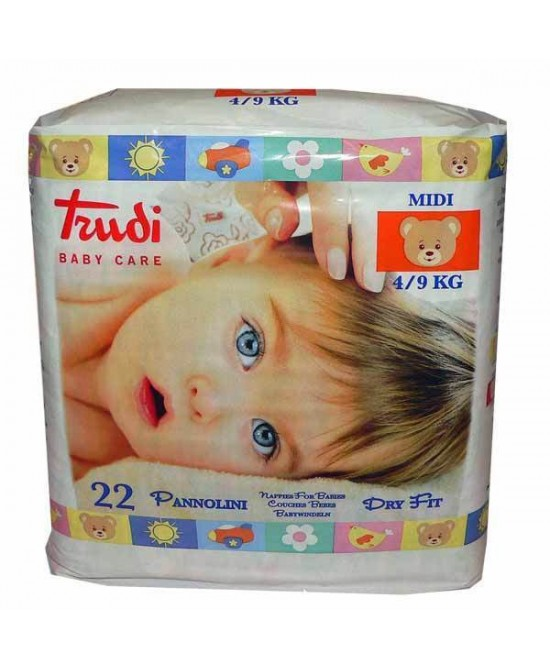 Trudi Baby Care Pannolini Dry Fit Midi 4/9kg 22 Pannolini - Farmabellezza.it
