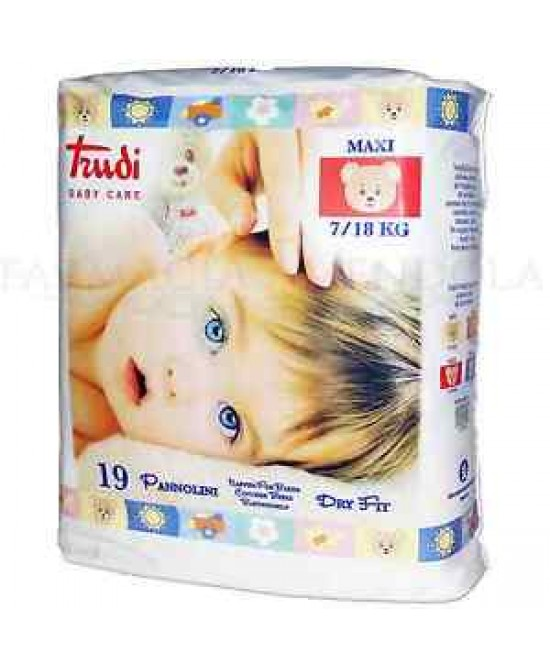 Trudi Baby Care Pannolini Dry Fit  Maxi 7/18kg 19 Pannolini - Farmafamily.it