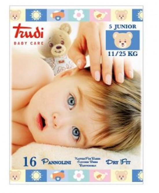 Trudi Baby Care Pannolini Dry Fit Junior 11/25kg 16 Pannolini - Farmafamily.it