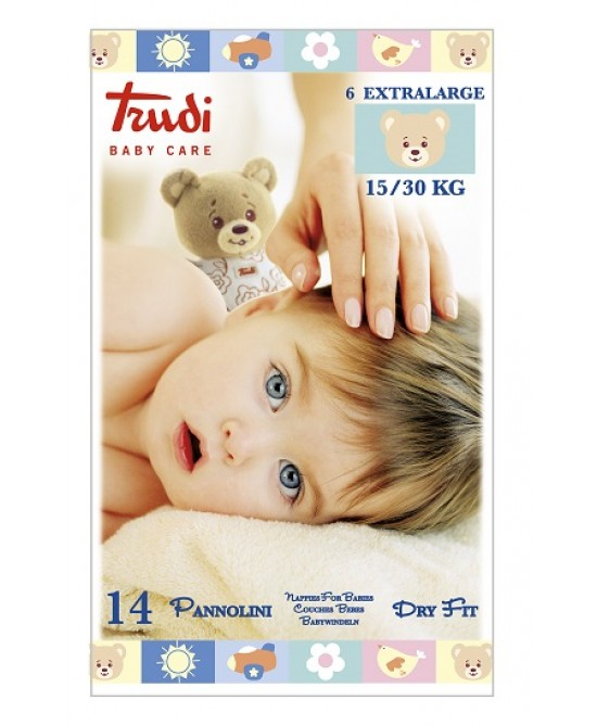 Trudi Baby Care Pannolini Dry Fit  Extra Large 15/30kg 14 Pannolini - Farmabellezza.it