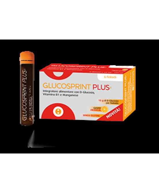 Glucosprint Plus Arancia Integratore Alimentare 6 Fiale - latuafarmaciaonline.it