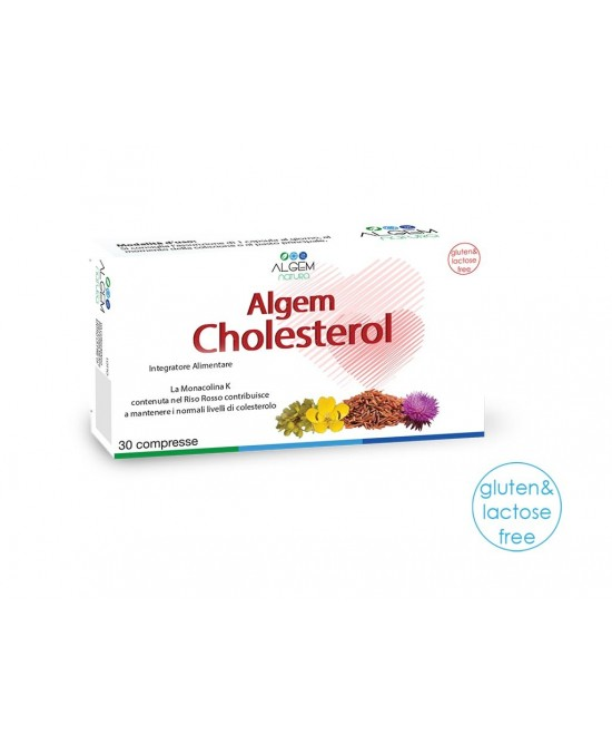 Algem Cholesterol Integratore Funzioni Digestive e Epatiche 30 Compresse