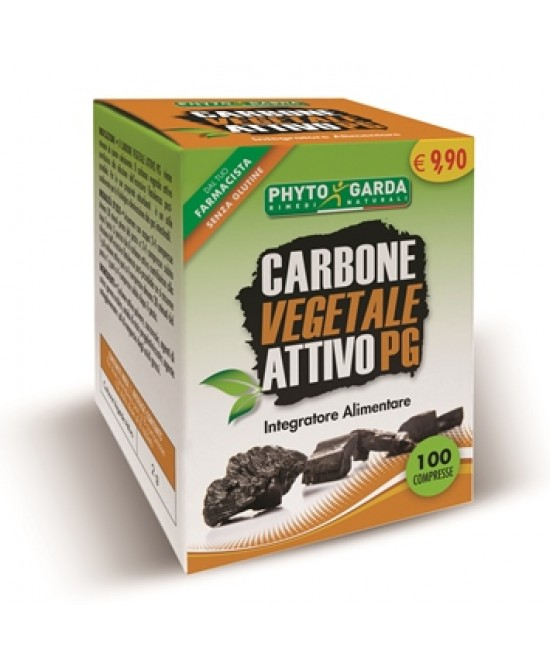 Phyto Garda Carbone Vegetale Pg Inegratore Alimentare 100 Compresse - Farmastar.it