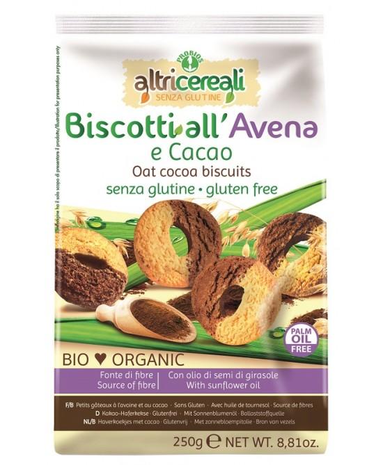 AltriCereali Biscotti Avena E Cacao Bio Senza Glutine 250g - FARMAEMPORIO