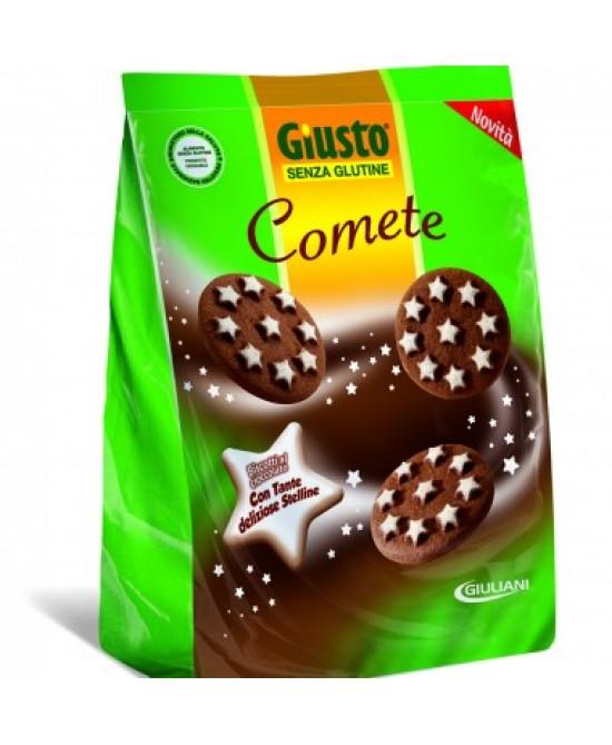 Giusto Senza Glutine Comete Biscotti al Cioccolato e Nocciole 200 g