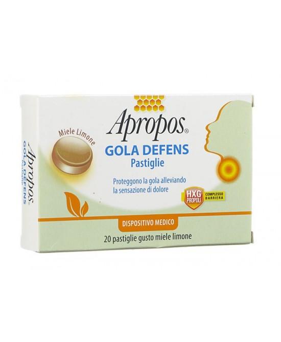 Apropos Gola Defens Pastiglie  Miele Limone 20 Pastiglie - FARMAEMPORIO