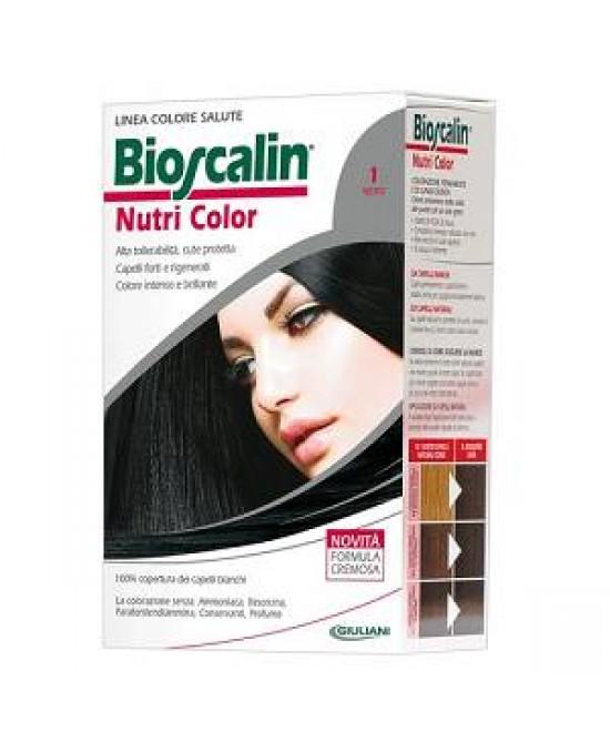 Bioscalin NutriColor COlorazione Permanente Tonalità 1 Nero - La farmacia digitale
