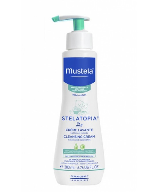 Mustela Stelatopia Crema Detergente Per Pelli Secche A Tendenza Atopica 200ml - Farmajoy