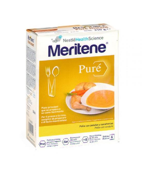 Meritene Purè Al Pollo Con Verdure Alimento In Polvere 6x75g - Farmastar.it
