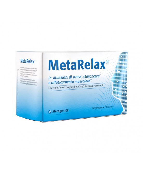 Metagenics MetaRelax Nuova Formula Integratore Alimentare 90 Compresse - Farmabros.it