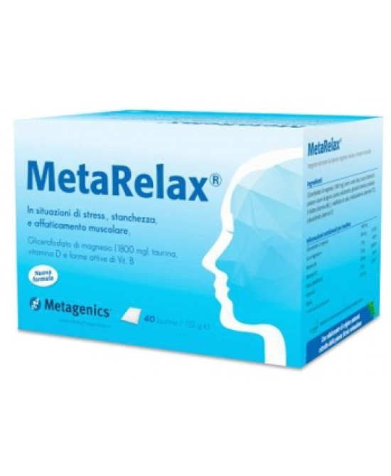 Metagenics Metarelax New Integratore Alimentare 40 Bustine -